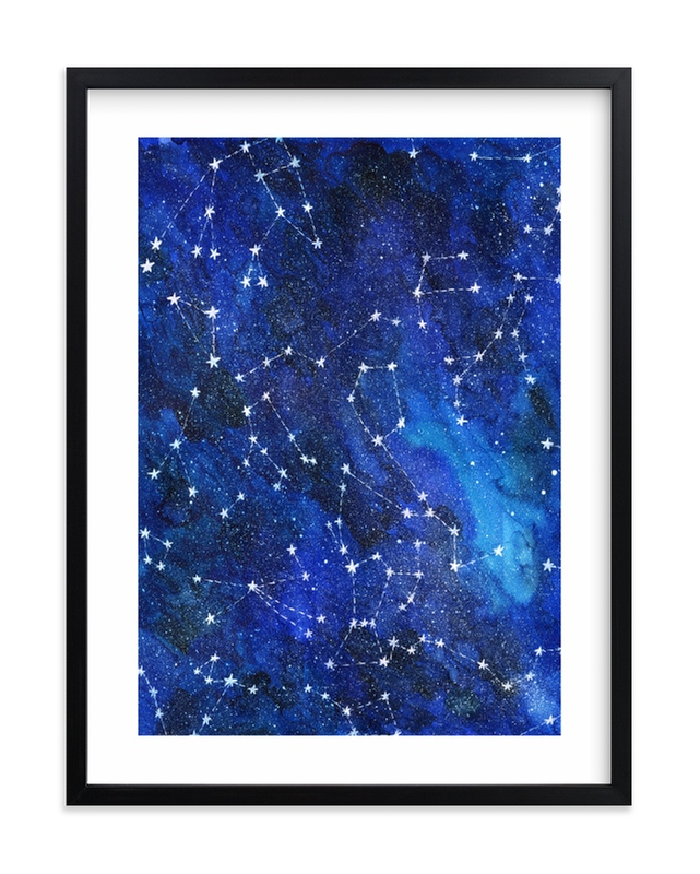 """""""Constellations"""" - Limited Edition Art Print by Alexandra Dzh in beautiful frame options and a variety of sizes."""