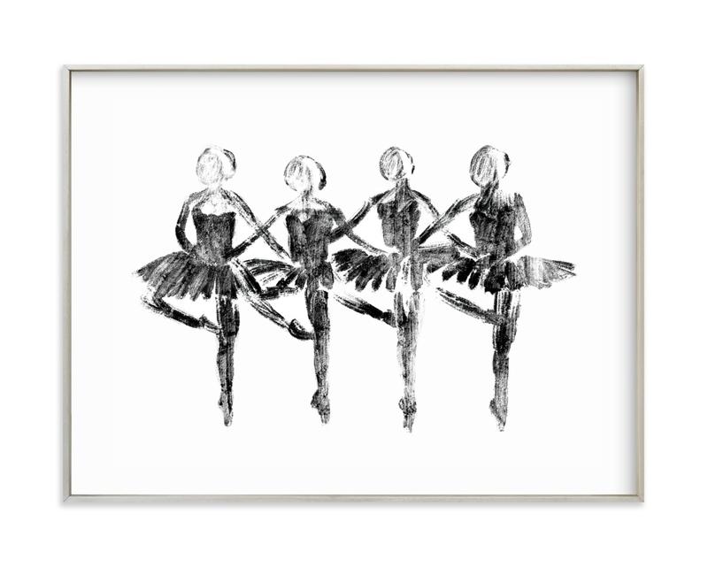 Les Cygnets Children's Art Print