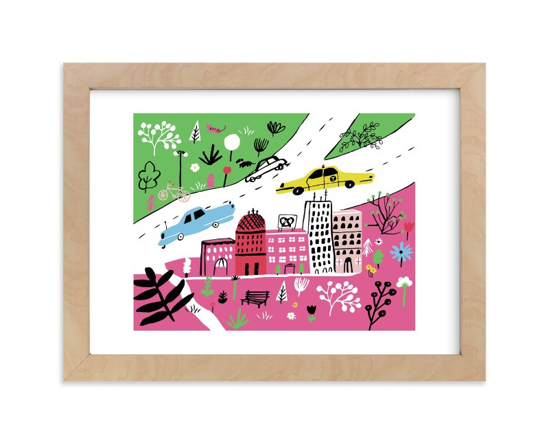 """""""City State of Mind"""" - Limited Edition Art Print by Jordan Sondler in beautiful frame options and a variety of sizes."""