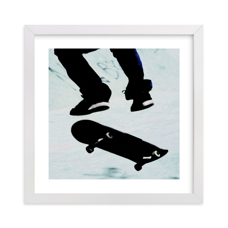 """Skate"" - Limited Edition Art Print by Susanna Nousiainen in beautiful frame options and a variety of sizes."