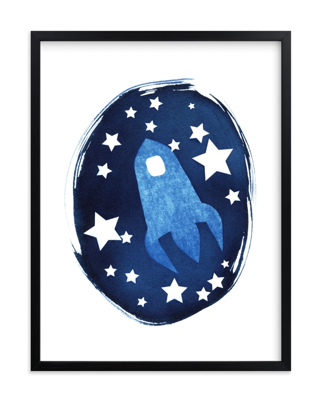 To the stars and beyond Children's Art Print