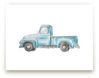 Vintage Turquoise Pickup Truck