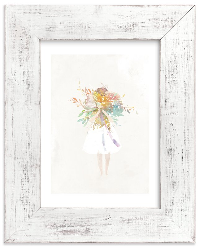 """The Flower Girl"" - Limited Edition Art Print by Lori Wemple in beautiful frame options and a variety of sizes."