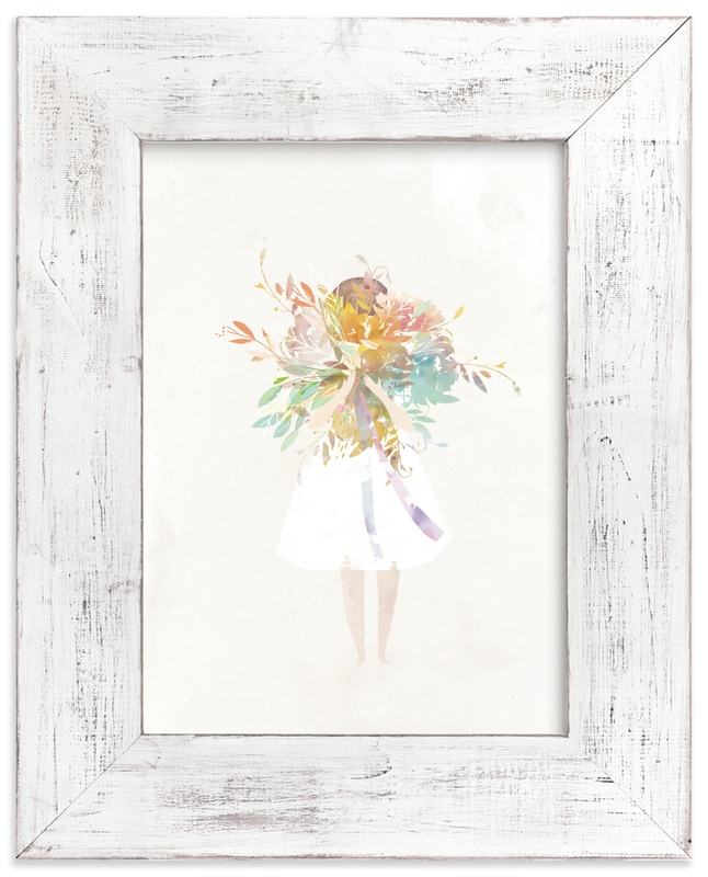 """""""The Flower Girl"""" - Limited Edition Art Print by Lori Wemple in beautiful frame options and a variety of sizes."""