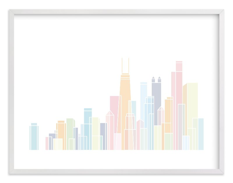 """""""Sky Lines"""" - Limited Edition Art Print by Jessie Steury in beautiful frame options and a variety of sizes."""