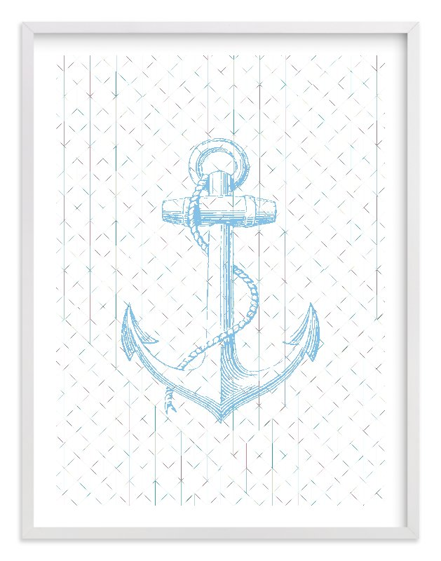 """""""Anchors Away"""" - Limited Edition Art Print by Laura McCarty in beautiful frame options and a variety of sizes."""