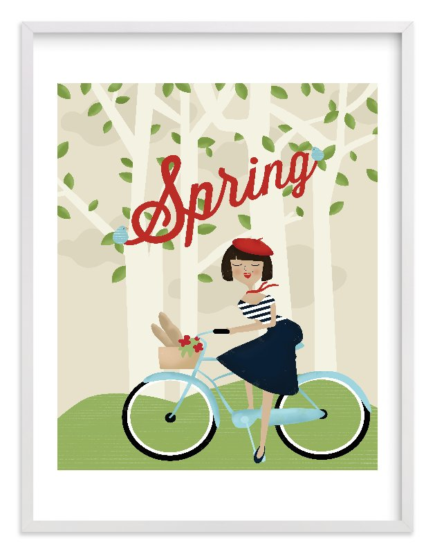 """""""Le Printemps"""" - Limited Edition Art Print by Pistols in beautiful frame options and a variety of sizes."""