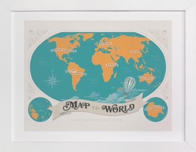 Map Of The World Children's Art Print