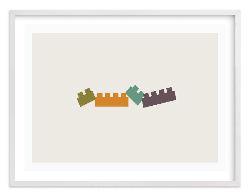 """""""Train of Blocks"""" - Limited Edition Art Print by aticnomar in beautiful frame options and a variety of sizes."""