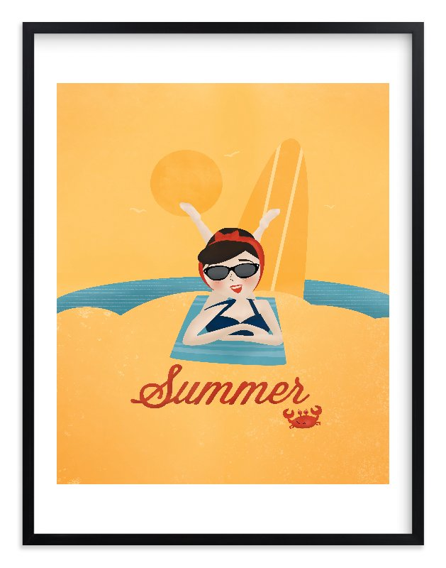 """Sun and Surf"" - Limited Edition Art Print by Pistols in beautiful frame options and a variety of sizes."