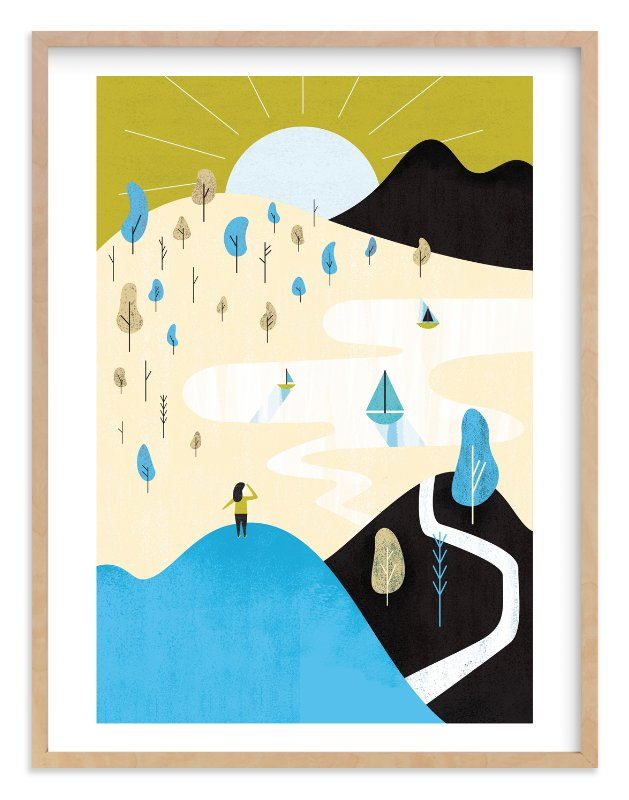 """""""Mountain Sun"""" - Limited Edition Art Print by Morgan Ramberg in beautiful frame options and a variety of sizes."""