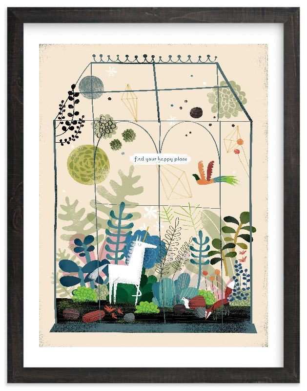 """Find Your Happy Place"" - Limited Edition Art Print by Chris Lensch in beautiful frame options and a variety of sizes."