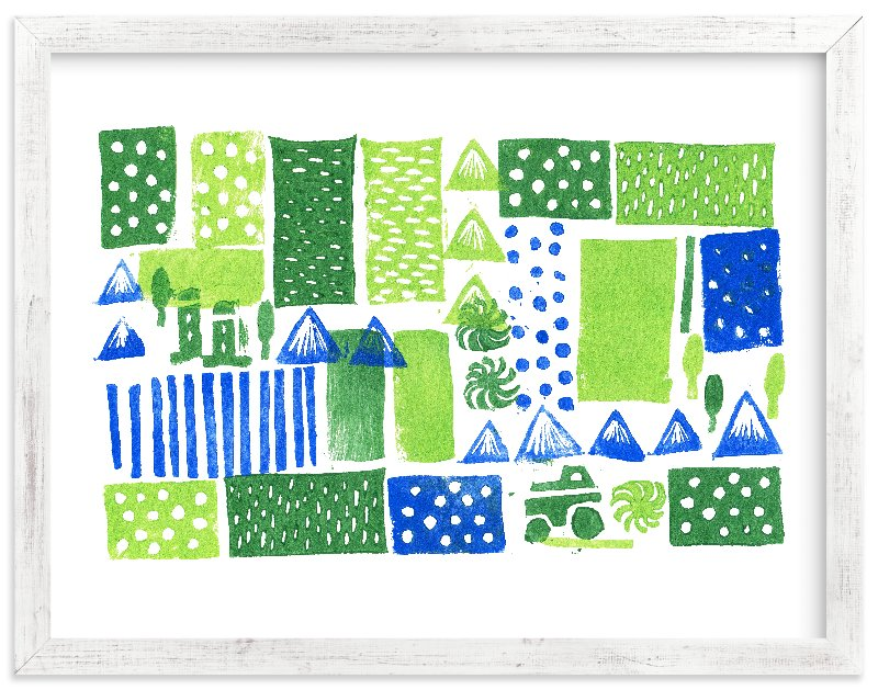 """Green Mountain"" - Limited Edition Art Print by SUWACHI in beautiful frame options and a variety of sizes."