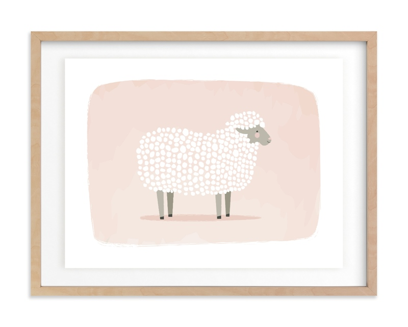 woolly sheep Children's Art Print