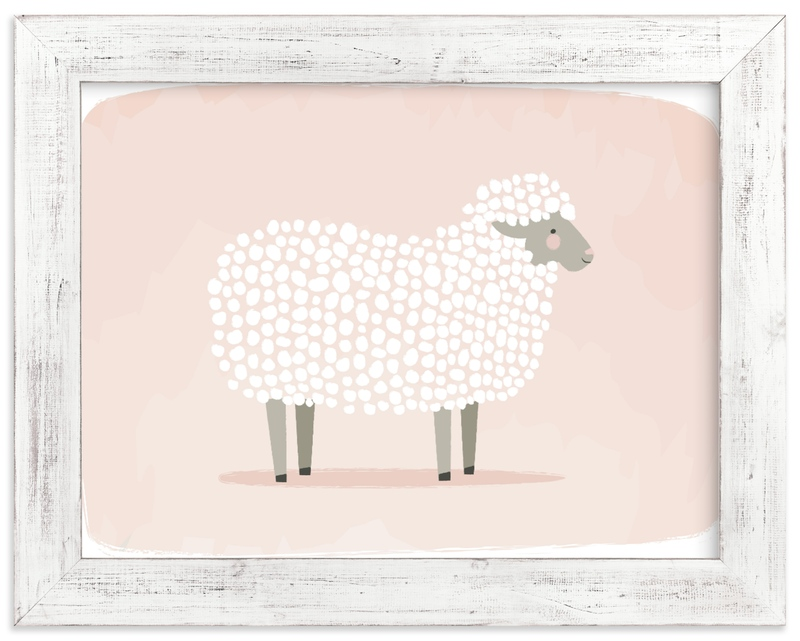 """woolly sheep"" - Limited Edition Art Print by Karidy Walker in beautiful frame options and a variety of sizes."