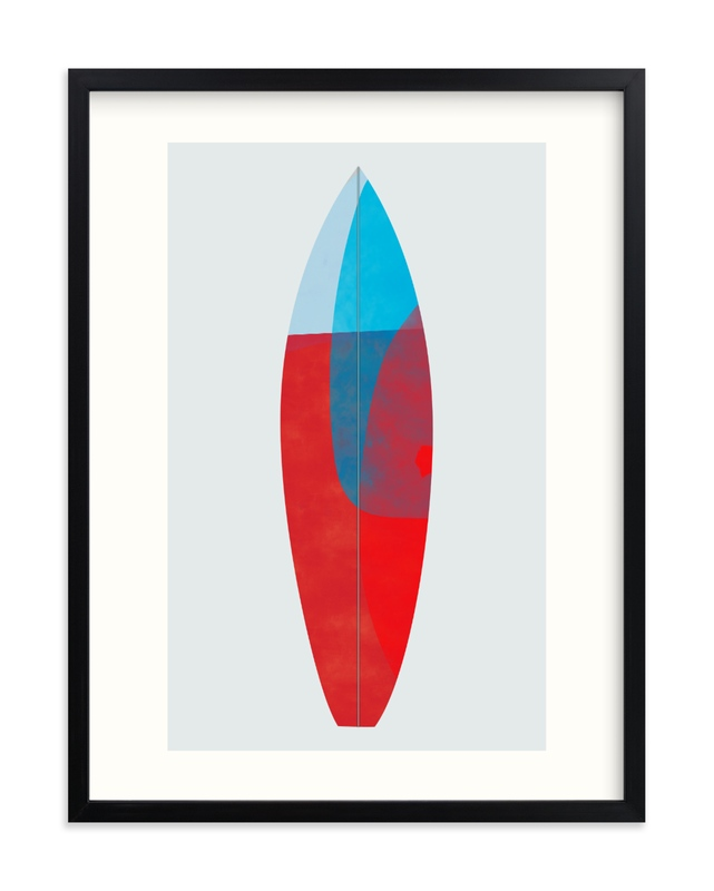 """""""Colorful Surfboard"""" - Limited Edition Art Print by Carmen Guedez in beautiful frame options and a variety of sizes."""