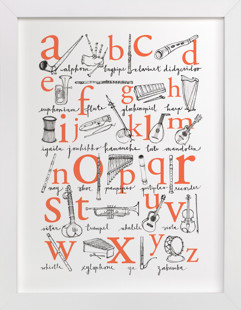 ABC of Musical Instruments Children's Art Print