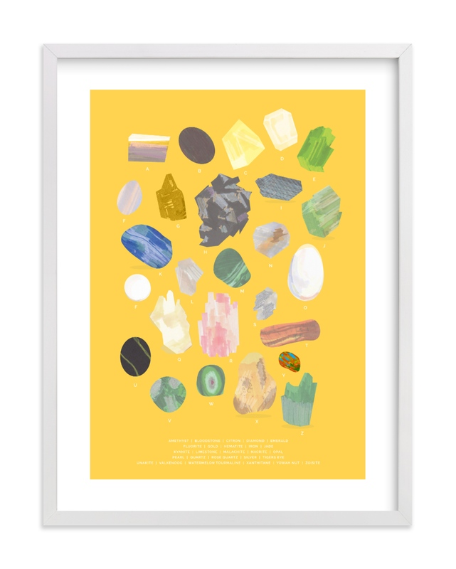 """ABC Rocks"" - Limited Edition Art Print by Baumbirdy in beautiful frame options and a variety of sizes."