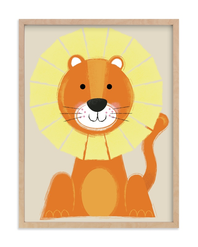"""Mr. Lion"" - Limited Edition Art Print by Ashlee Townsend in beautiful frame options and a variety of sizes."