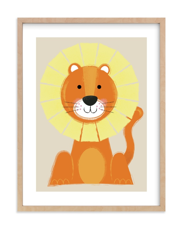 """""""Mr. Lion"""" - Limited Edition Art Print by Ashlee Townsend in beautiful frame options and a variety of sizes."""