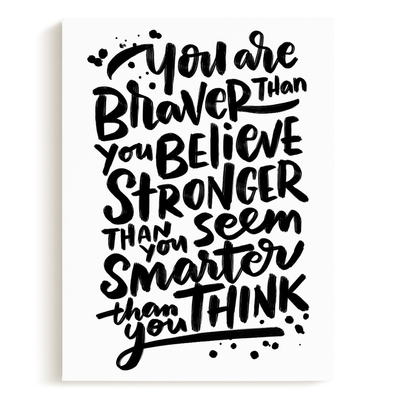 Braver Stronger Smarter Children's Art Print