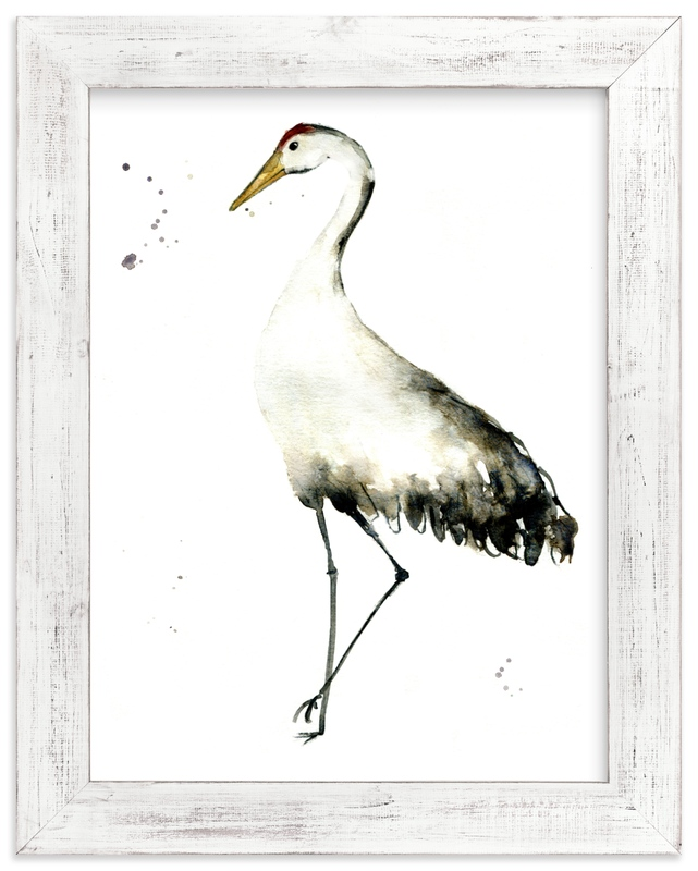 """""""Cranes on the go"""" - Limited Edition Art Print by Lulaloo in beautiful frame options and a variety of sizes."""