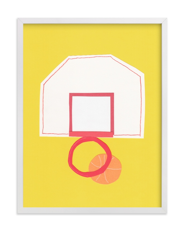 Basketball Hoop Children's Art Print