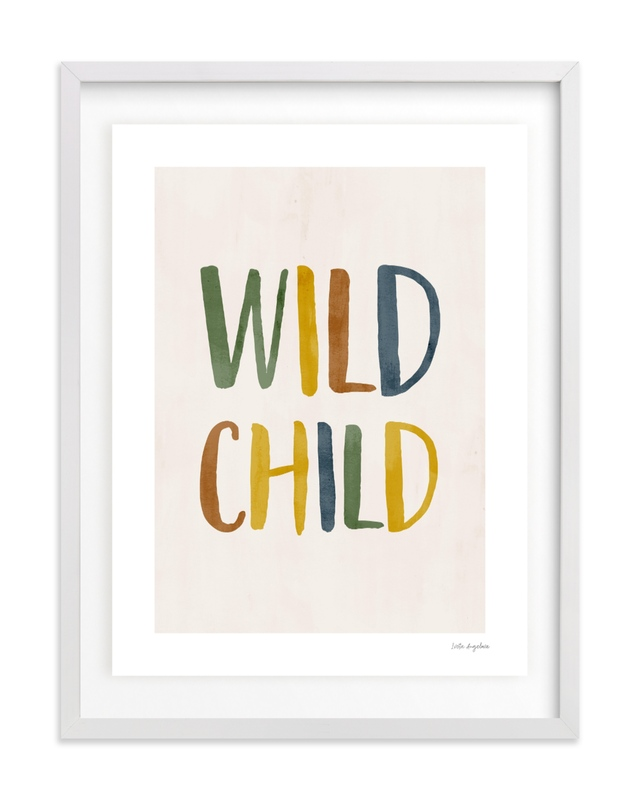 Wild Child Typographic Children's Art Print
