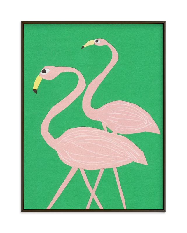 Flamingo Amigos Children's Art Print