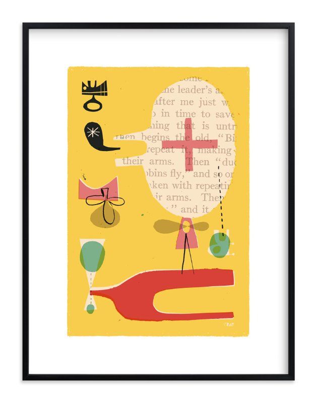 """""""Fun Games That Make You Laugh"""" - Limited Edition Art Print by ERAY in beautiful frame options and a variety of sizes."""