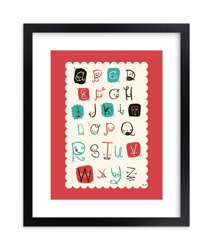 """""""Alphabet Friends"""" - Limited Edition Art Print by ERAY in beautiful frame options and a variety of sizes."""