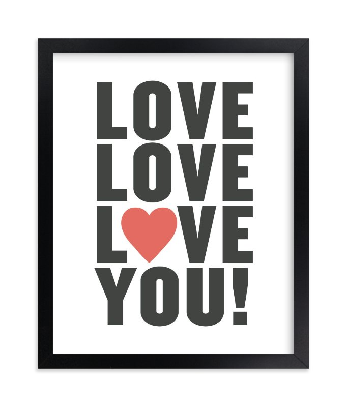"""Love You"" - Limited Edition Art Print by Max and Bunny in beautiful frame options and a variety of sizes."