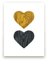 Wood Grain Hearts by Max and Bunny