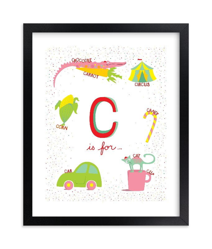 """""""C is For"""" - Limited Edition Art Print by Tereza Šašinková Lukášová in beautiful frame options and a variety of sizes."""