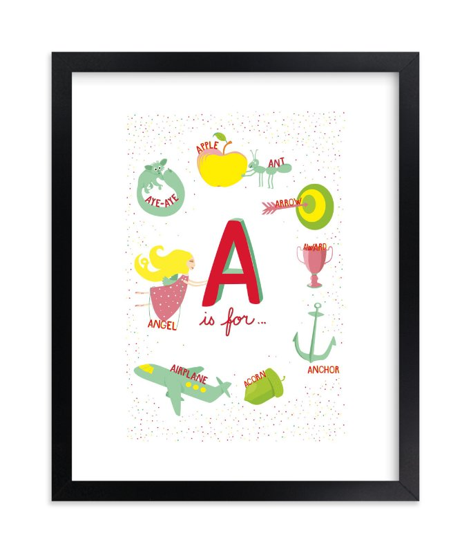 """A is For"" - Limited Edition Art Print by Tereza Šašinková Lukášová in beautiful frame options and a variety of sizes."