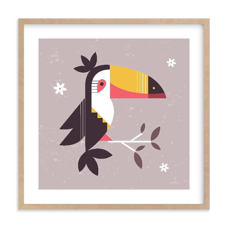 """Birds of A Feather 2"" - Limited Edition Art Print by Kristen Smith in beautiful frame options and a variety of sizes."
