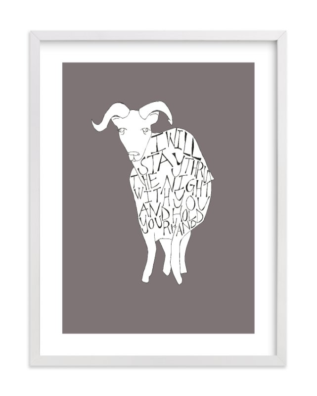 """""""I Will Hold Your Hand"""" - Limited Edition Art Print by Annada Hypes in beautiful frame options and a variety of sizes."""
