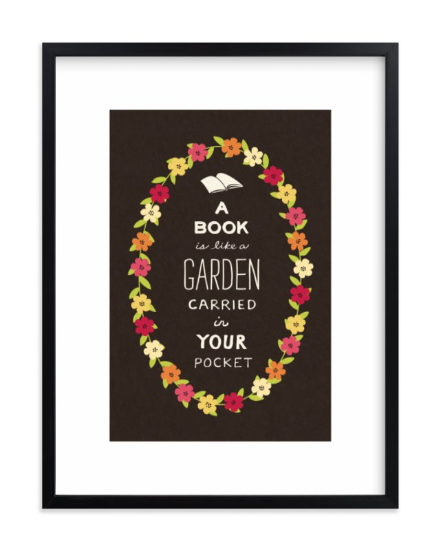 """Book Love"" - Limited Edition Art Print by Katherine Moynagh in beautiful frame options and a variety of sizes."