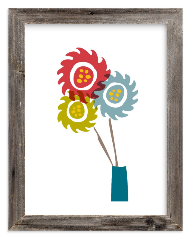 """""""Blooms"""" - Limited Edition Art Print by chica design in beautiful frame options and a variety of sizes."""