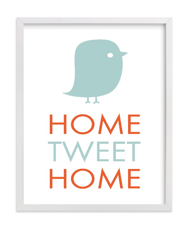 """Home Tweet Home"" - Limited Edition Art Print by Dozi in beautiful frame options and a variety of sizes."