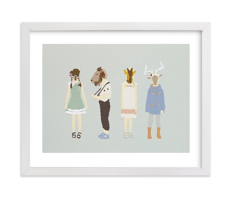 """my head is an animal"" - Limited Edition Art Print by Emily King in beautiful frame options and a variety of sizes."