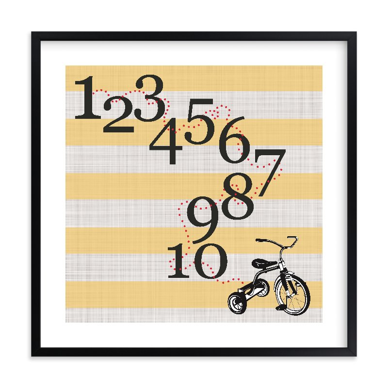 """""""Trike one to ten"""" - Limited Edition Art Print by Jennifer Cooper in beautiful frame options and a variety of sizes."""