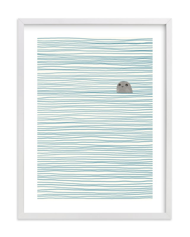 """Seal"" - Limited Edition Art Print by Jorey Hurley in beautiful frame options and a variety of sizes."