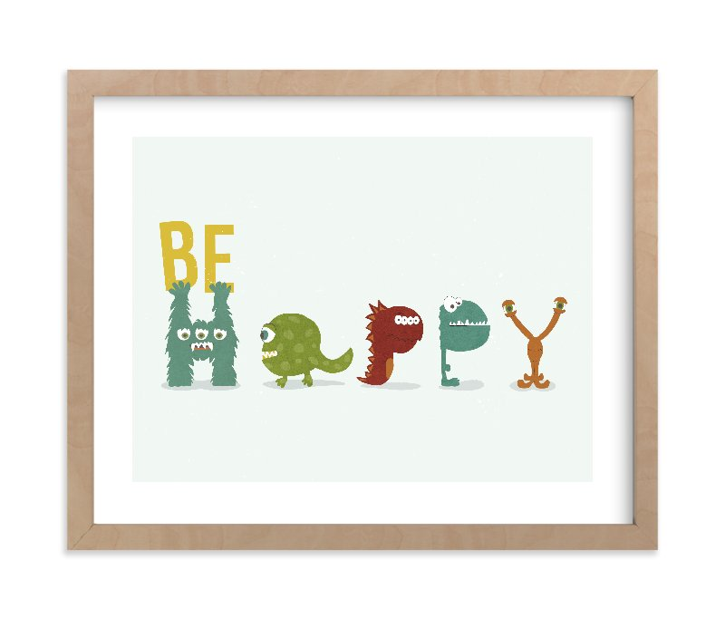 """Happy Monster"" - Limited Edition Art Print by Shasta Knight in beautiful frame options and a variety of sizes."