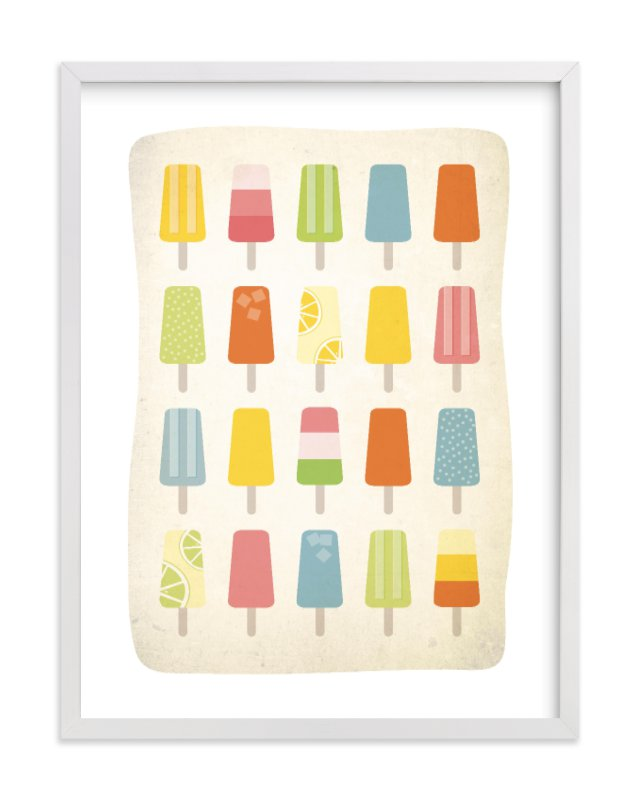 """""""Summer of Popsicles"""" - Limited Edition Art Print by Heritage and Joy in beautiful frame options and a variety of sizes."""
