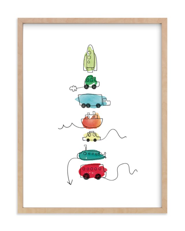 """""""On the Move"""" - Limited Edition Art Print by Kelly Ventura in beautiful frame options and a variety of sizes."""