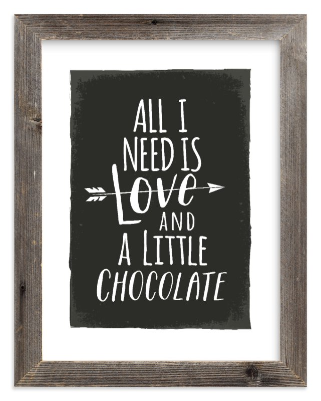 """Love and Chocolate"" - Limited Edition Art Print by Karidy Walker in beautiful frame options and a variety of sizes."
