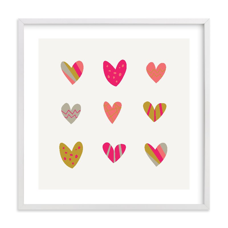 """Heart Party"" - Limited Edition Art Print by Shari Margolin in beautiful frame options and a variety of sizes."