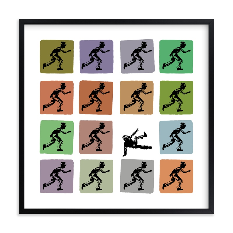 """""""Try Try Again"""" - Limited Edition Art Print by Shannon in beautiful frame options and a variety of sizes."""