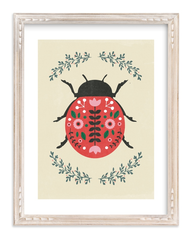 """""""Lady-Bug"""" - Limited Edition Art Print by Hannah Williams in beautiful frame options and a variety of sizes."""
